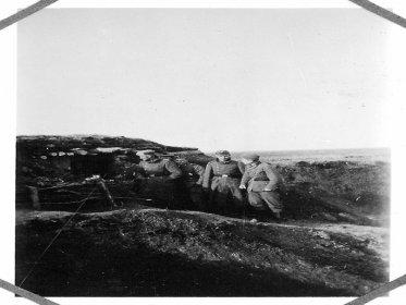 Немецкие солдаты возле Береки, 8 апреля 1942 года