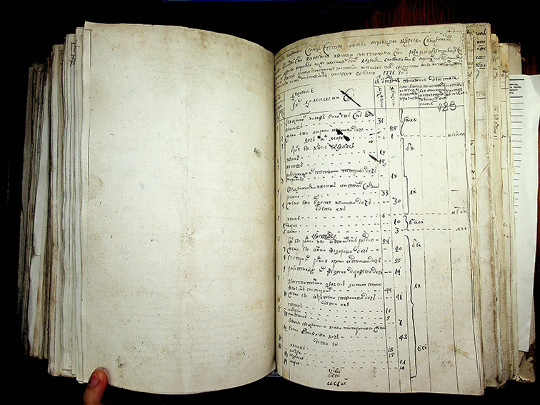 Исповедная роспись Охочего за 1771 год