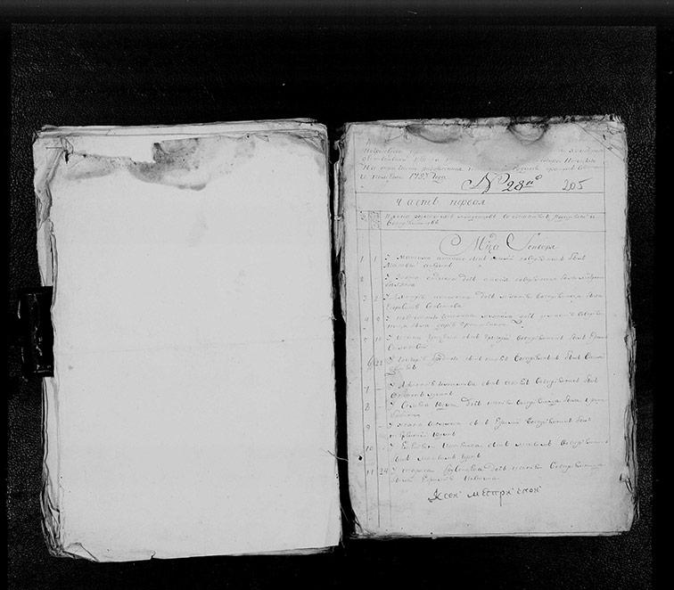 Метрическая книга Христорождественской церкви села Берека за 1793 год
