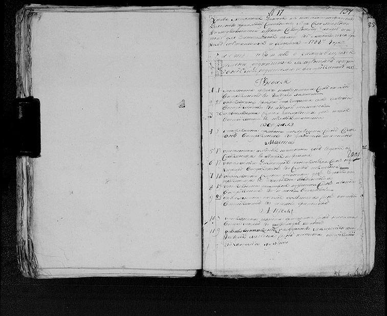 Метрическая книга Космодемьяновской церкви села Лозовенька за 1788 год