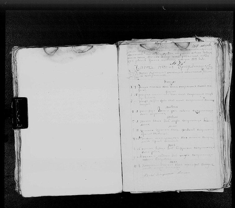 Метрическая книга Покровской церкви села Нижний Бишкин за 1793 год