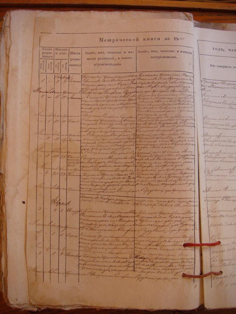 Метрическая книга Троицкой церкви села Охочее за 1847 год