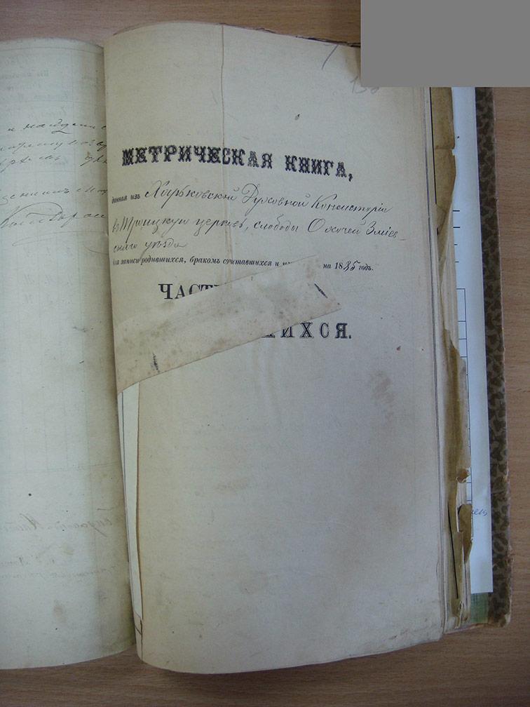 Метрическая книга Троицкой церкви села Охочее за 1885 год