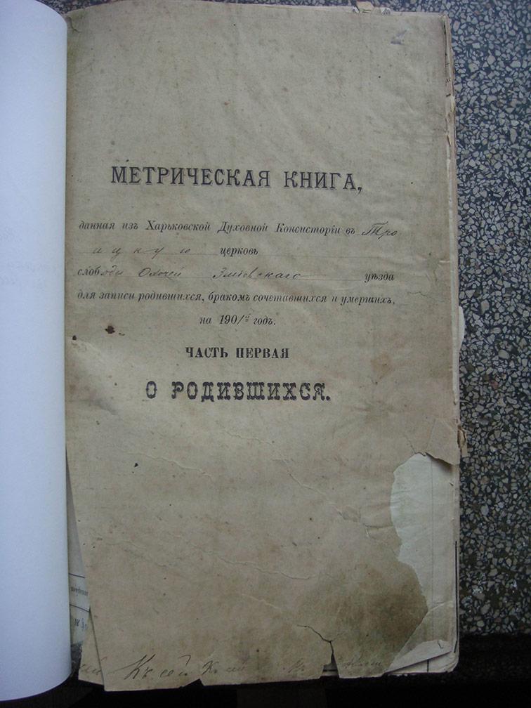 Метрическая книга Троицкой церкви села Охочее за 1901 год