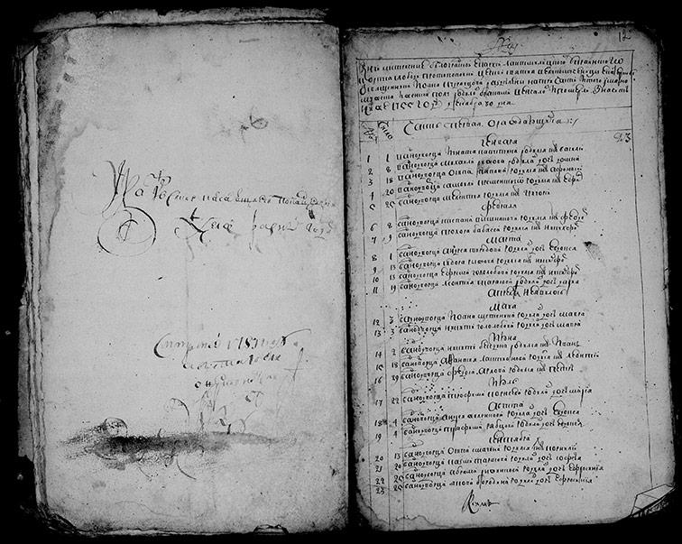 Метрическая книга Екатерининской церкви села Протопоповки за 1755 год