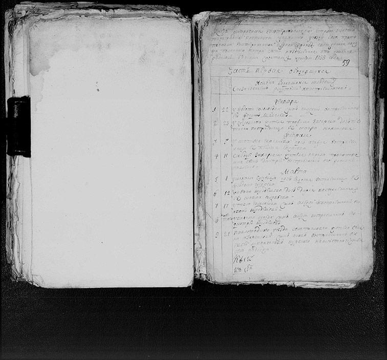 Метрическая книга Екатерининской церкви села Протопоповки за 1788 год