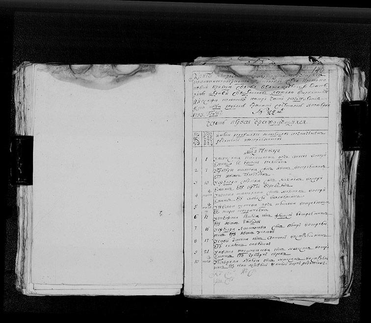 Метрическая книга Екатерининской церкви села Протопоповки за 1793 год