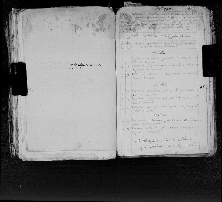Метрическая книга Архангеломихайловской церкви села Шебелинка за 1787 год