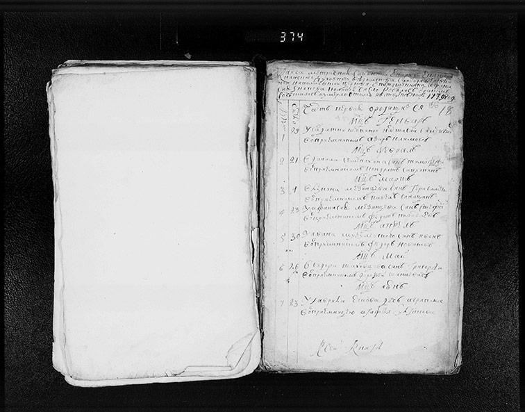 Метрическая книга Николаевской церкви села Верёвкино за 1779 год
