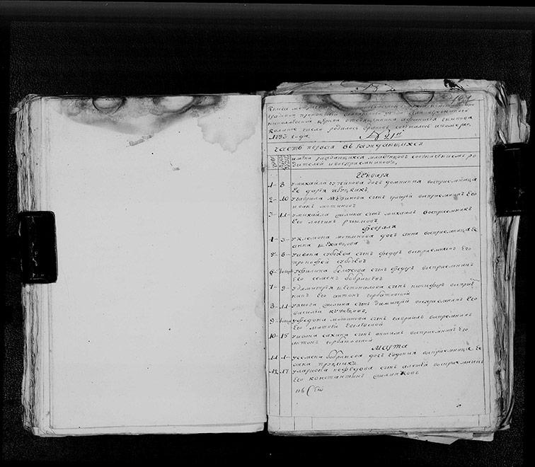 Метрическая книга Николаевской церкви села Верёвкино за 1793 год