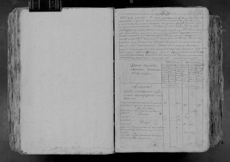 Ревизская сказка Лозовеньки 1795 год (5-я ревизия)
