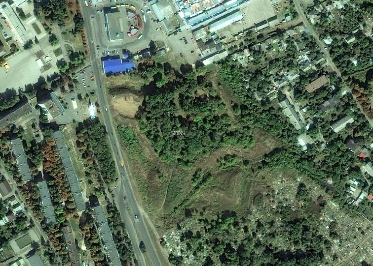 Белёвская крепость Украинской линии на снимках Яндекса