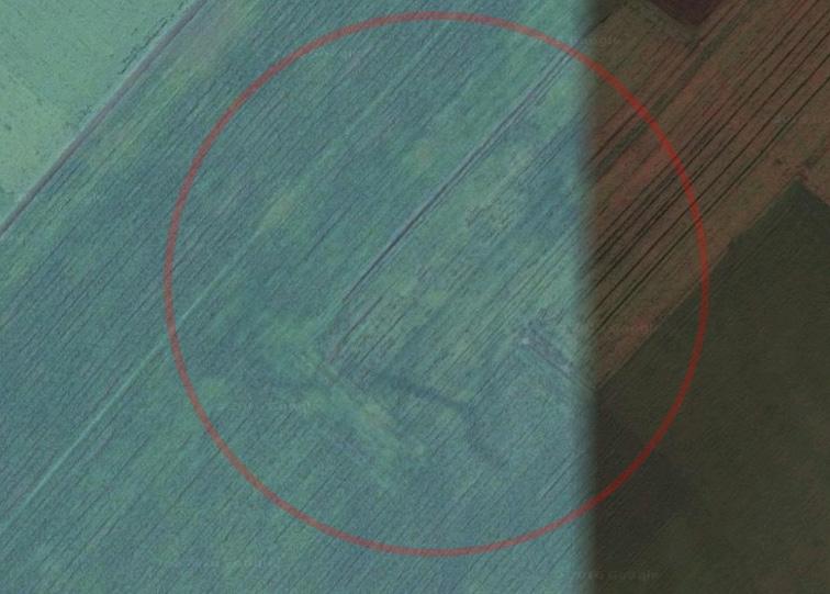НоваяКозловская крепость Украинской линии на снимках Google
