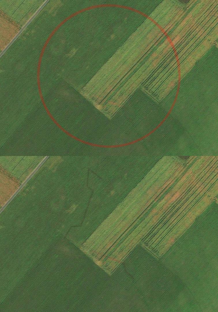 НоваяКозловская крепость Украинской линии на снимках Bing