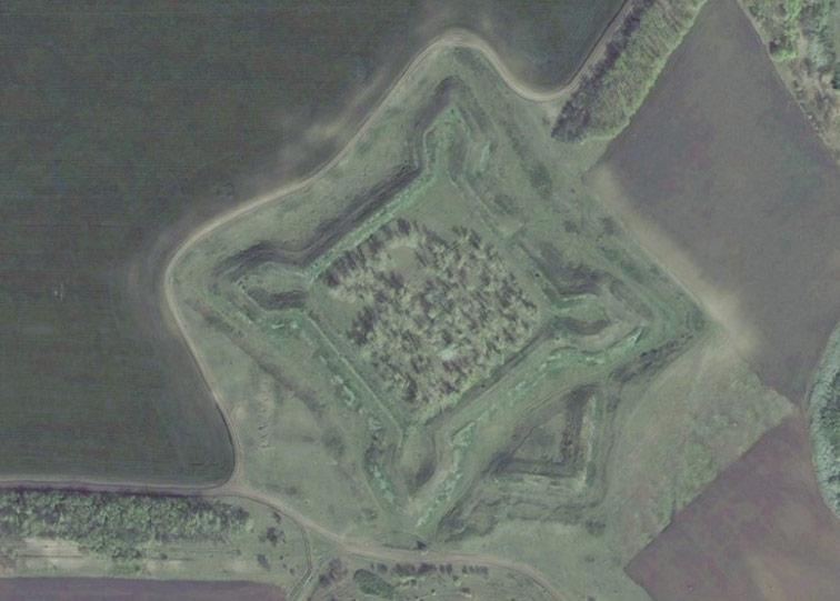 Парасковейская крепость Украинской линии на снимках Bing