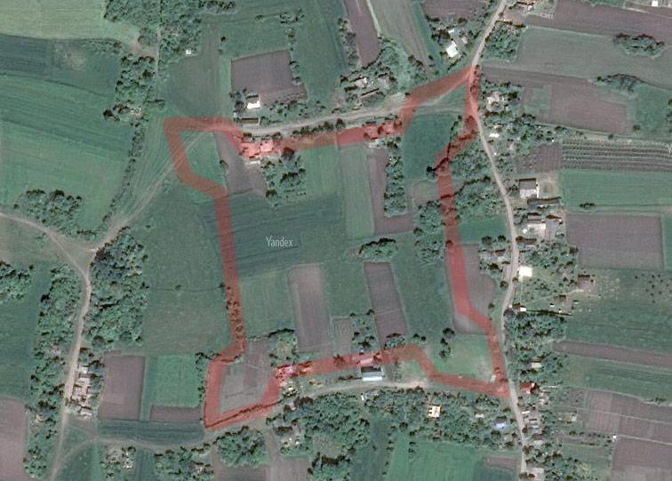 Ряжская крепость Украинской линии на снимках Яндекса