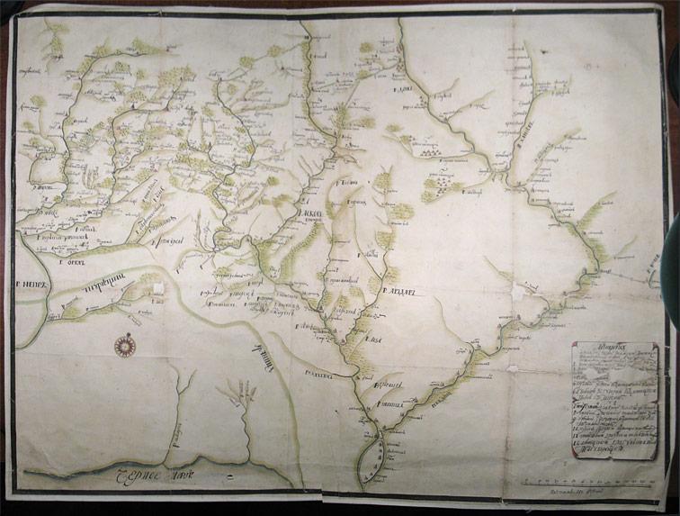 Ландкарта о Слободских полках, Бахмутской провинции и Воронежской губернии, 1730 год
