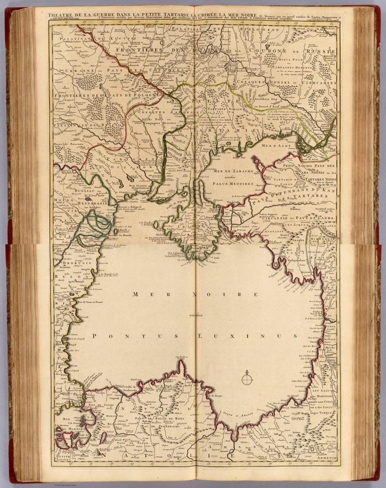 Театр военных действий в Малой Татарии, Крыму, на Чёрном море, 1742 год.