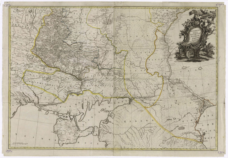 Пограничная карта Российской и Турецкой Империй и Польши