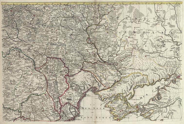 Театр военных действий между двумя мощными империями России и Турции, в Европе и Азии, 1770 год (фрагмент)