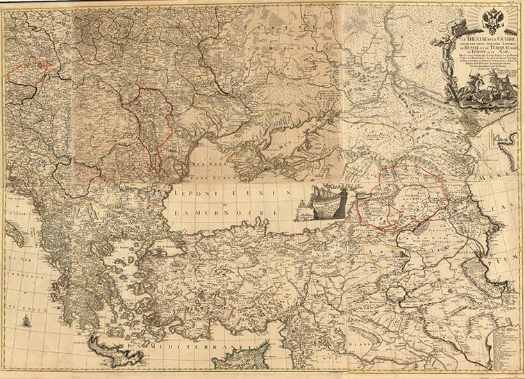 Театр военных действий между двумя мощными империями России и Турции, в Европе и Азии, 1770 год