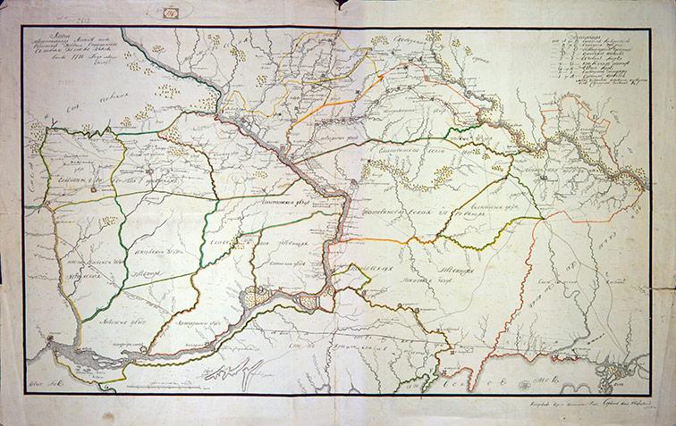 Карта Азовской и Новороссийской губерний, 1778 год