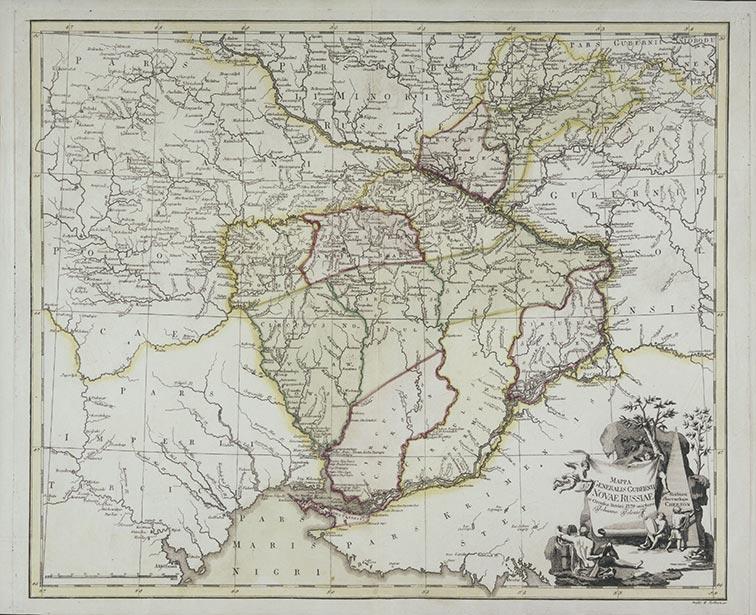 Генеральная карта Новороссийской губернии 1779 год