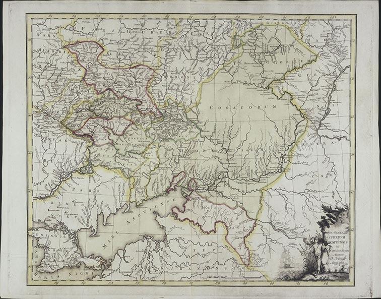 Генеральная карта Азовской губернии 1782 год