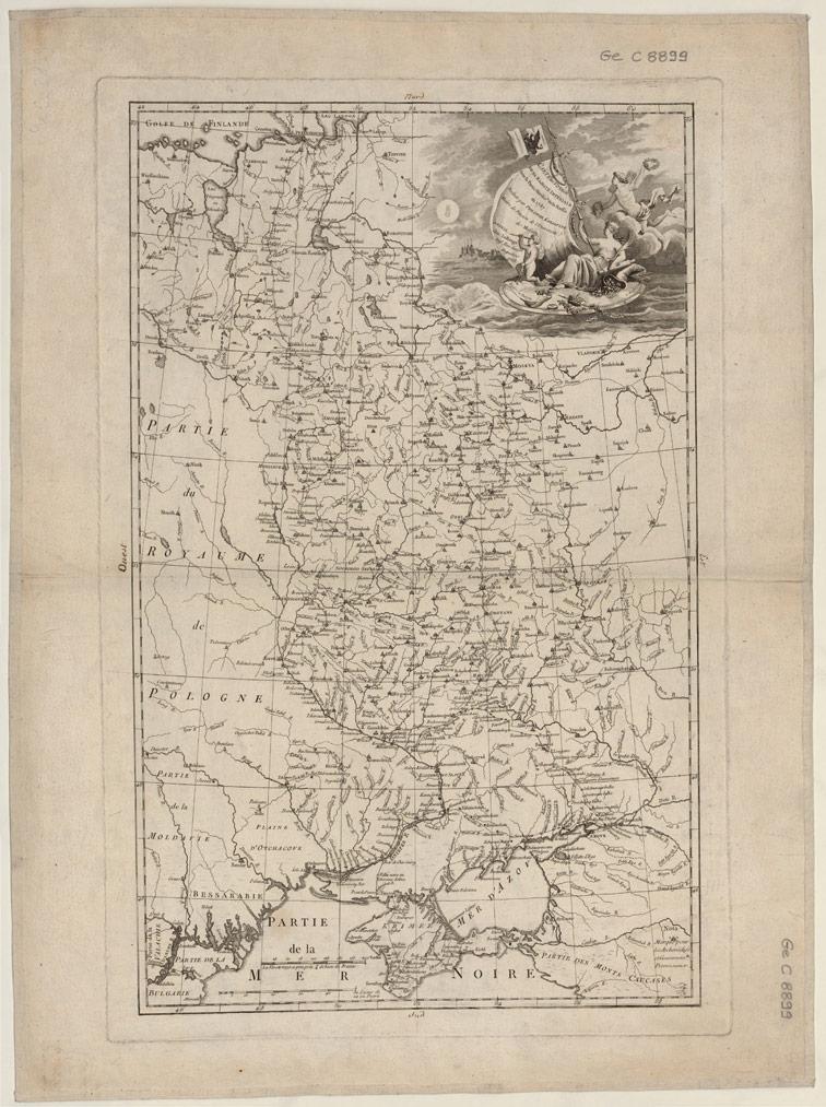 Карта путешествия Его Императорского Величества по самой южной части России в 1787 году.