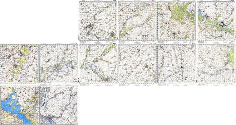 Украинская линия на топографических картах (Генштаб 1:100000)