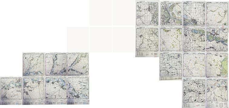Украинская линия на немецких топографических картах (1:50000)