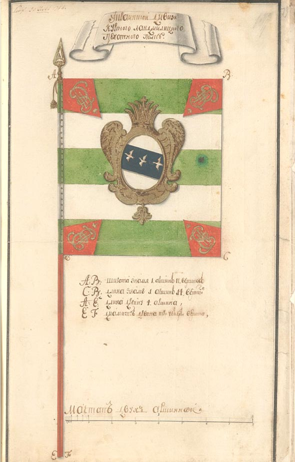 Знамя Курского ландмилицского полка.