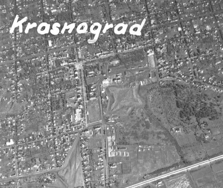 Немецкая аэросъёмка Константинограда (Краснограда), август 1941 год.